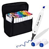 Indoor Ultima 80 Colors Dual Tip Art Permanent Markers Set, Professional Markers Pen