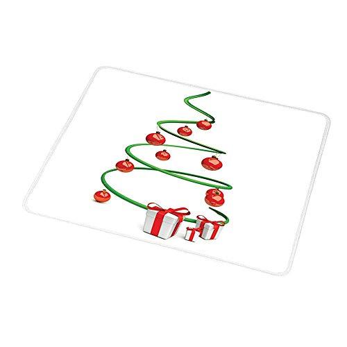 Maus Padwrist Unterstützung Weihnachten, abstrakte Weihnachtsbaum Design Kugeln und Band Boxen Dezember Ornamente moderne, grün rot weiß für Kinder