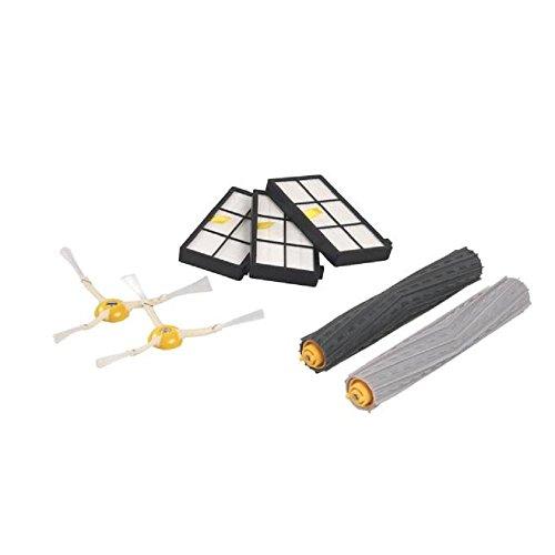 3pc Filter + 2pc 3-Armige Seitenbürste + 1 Paar Tangle-free Debris Extractor Ersatzkits für iRobot Roomba 800/900 Vakuum Reinigungs Roboter Ersatzteil-Kit, Staubsauger Zubehör
