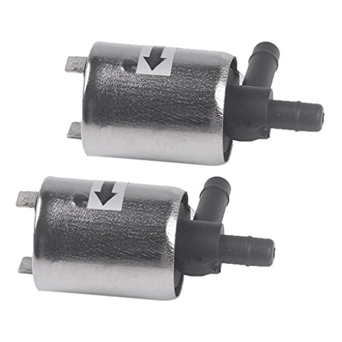 dolity DC 12V eléctrico eléctrico magnético Válvula Válvula para aire agua (2unidades), color plateado