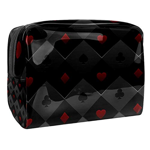 Tragbare Make-up-Tasche mit Reißverschluss, Reise-Kulturbeutel für Frauen, praktische Aufbewahrung, Kosmetiktasche, Pokertisch