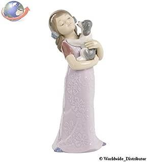 Nao Porcelain by Lladro PUPPY CUDDLES ( GIRL CUDDLING PUPPY DOG ) 2001535