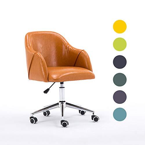 JZWX ergonomische bureaustoel oranje bureaustoel met armleuningen, comfortabele stof gewatteerde draaistoel, donkergroen