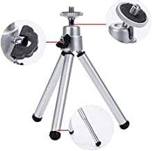 MStick Universal Mini Tripod for Digital Camera and All Mobile Phones with Phone Mount, Silver