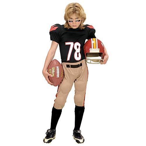 Widmann 58686 - American Football-Spieler Kostüm für Jungen, 5 bis 7 Jahre