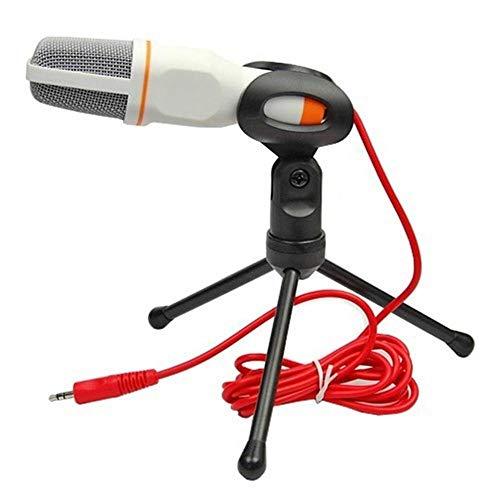 Mikrofon Yuan Ou Neues Kondensatormikrofon 3,5-mm-Stecker Home Stereo-Desktop-Stativ für Video-Chats Gaming-Podcast-Aufnahme Weiß