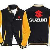 SPONYBORTY Unisexo Béisbol Uniforme Chaqueta con Suzuki Impreso Sweatshirts Casual Deportes Saco Teenager Regalo Y / A1 / XXXL
