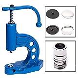 GETMORE Parts Knopfmaschinen - Set, Consiste en Prensa para Botones, Herramienta de Botón y 100 Knopfrohlingen para Consulte con Tela - Knopf-Unterseite: Metal, 28' ' / 18 mm