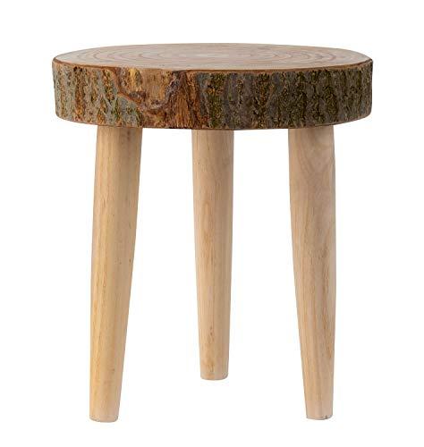Lifestyle & More Rustikaler Massivholz Beistelltisch Baumscheibe mit Rinde Holztisch Hocker aus Baumscheibe Sofatisch Couchtisch Durchmesser 31 cm Höhe 32 cm