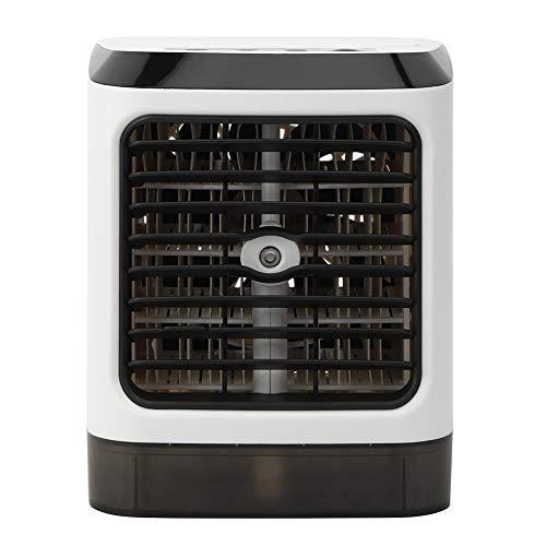 Fockety Ventilador del refrigerador de Aire, USB Que Carga Mini con la Fan Ligera del Aire Acondicionado del LED, para el hogar de la Oficina