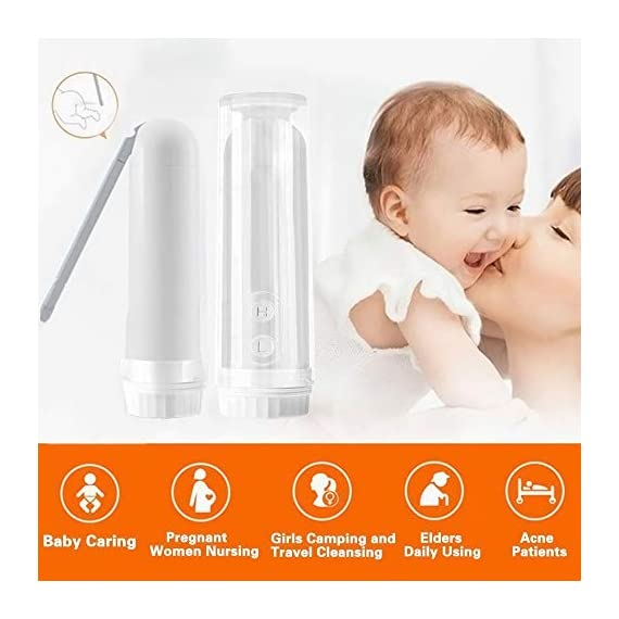 """Meidong Portable Travel Bidet Sprayer Handheld Personal Bidet Easy-to-use Electric Bidet with Decompression Film and 180… 6 💕【Easy to Use and Stay Clean】Remove the cover and fill it with water, then invert, point, press the H / L key to start working according to your needs.180 degrees rotary nozzle, which can be manually adjusted freely. Two washing modes: """"L"""" is gentle, """"H"""" is strong, meet your different needs 💕【Extreme Experience】Our portable travel bidet Providing a new refreshing experience,No more harsh toilet paper,can make you feel comfortable and clean whenever you using it, which gives you a spotless out-of-the shower feeling,A gentle form of personal hygiene 💕【Portable and Ideal for Travel】Compact handheld size make it easily to carry and enough to fit in your backpack, baggage.portable bidet is perfect for personal care hygiene refresher at home, office, on vacation, travel and more"""