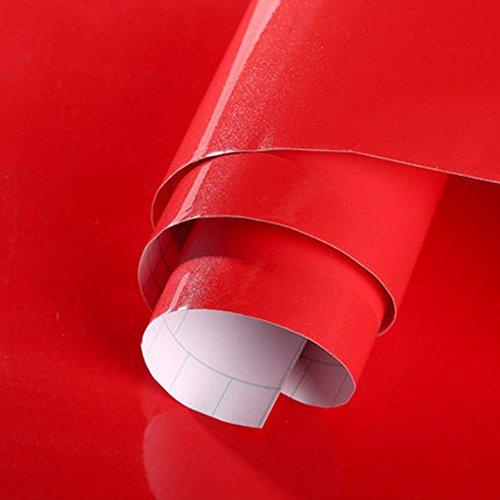 KJH21 - Adhesivo para renovación de muebles con perlado, No nulo, Rojo, 60cm*5m
