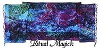 Long Altar Cloth - Triquetra Tie Dye