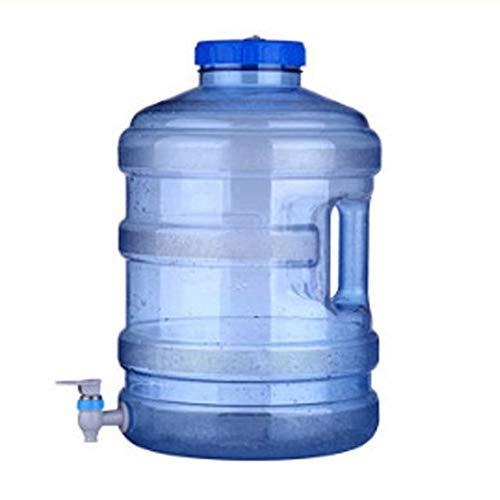 KGDC 15L großer Durchmesser Kunststoff-Wasserspeichereimer mit Wasserhahn, Trinkwasserfass im Freien, Wasserbehälter tragbar tragbar mit Deckel