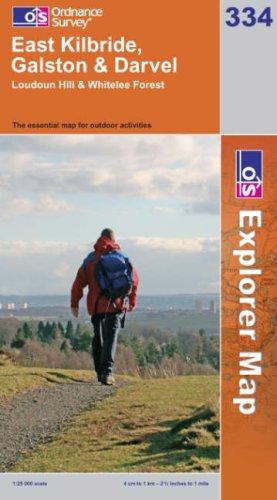 OS Explorer map 334 : East Kilbride, Galston & Darvel