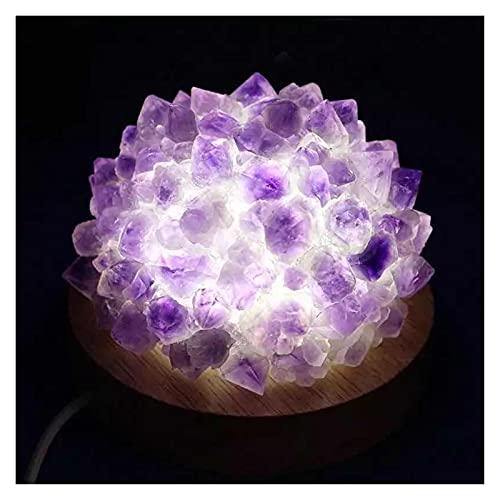 Natural Púrpura Amatista Cuarzo Raw Stone Lámpara de Cristal 8cm 1pc Curación de Piedra de la Cura alejado de los espíritus malignos Dinero Dibujo Riqueza Fortuna (Tamaño : 1PC)