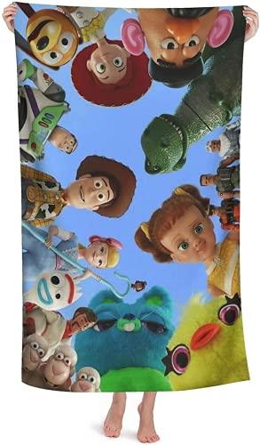 QWAS Toalla de playa de Toy Story con impresión 3D, secado rápido, absorbente, 2,70 x 140 cm