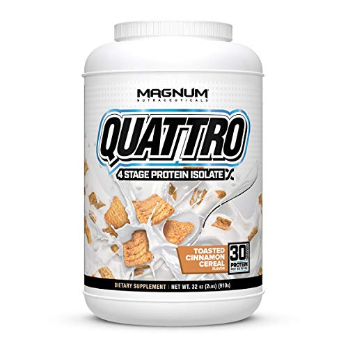 Magnum Nutraceuticals Quattro Protein Powder - 2lbs - Toasted Cinnamon...