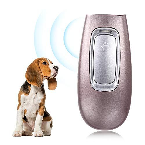 Fusoo Dispositivo Antiabbaio per Cani Ultrasuoni, Anti Abbaio Cani Dissuasore per Cani Portatile Esterno Interno Repellente per Cani 5m Raggio