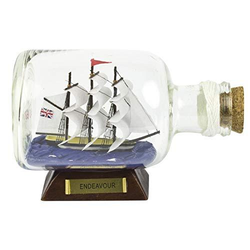 14 cm HMS Endeavour schip in fles