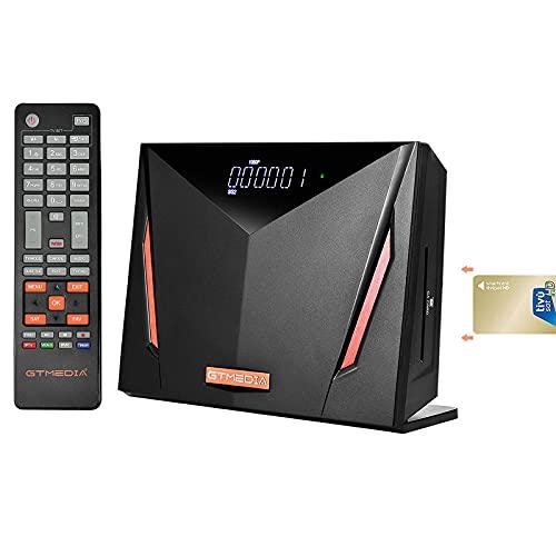 GTMEDIA V8 UHD 4K Decoder Digitale Terrestre DVB-T/T2+S/S2/S2X+Cavo Combo,4K HD Decoder Satellitare TV SAT, Lettore Smart Card per TIVUSAT, Supporta 4K H.265 Hevc 10bit PVR con WiFi/SCART/HDMI