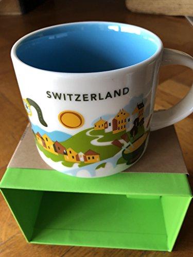 Starbucks Sie Befinden Sich Hier'Yah-Stadt-Becher - Schweiz Schweizer 14 Unzen Weiß
