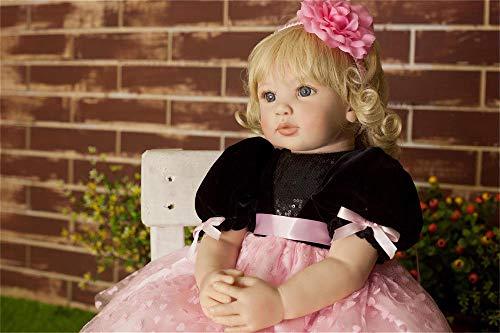 iCradle Reborn Doll 24 Pollici 60cm Realistic Reborn Toddler Silicone Vinile Panno Corpo Baby Dolls Real Touch Regalo per Bambini