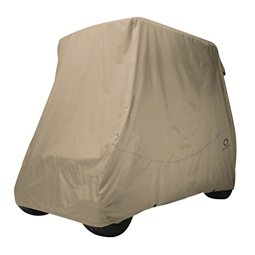 Classic Accessories Fairway Golf Cart Quick Fit Cover, Khaki, Long Roof
