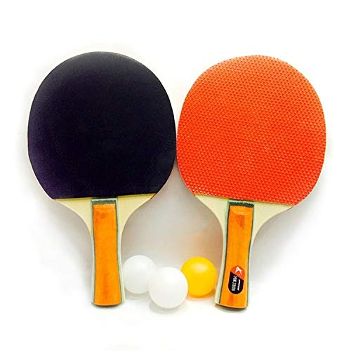 Review Indoor and Outdoor Basketball Zhenku 2 in 1 Thick Table Tennis Racket + Table Tennis Set