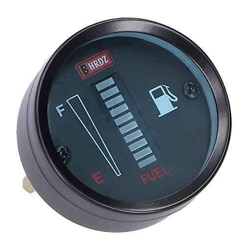 Diodenanzeige für Kraftstoffstandsanzeige Diodenanzeige Anzeige für Kraftstoffanzeige 52 mm Durchmesser 12 V Einstellbarer Widerstand für Auto-Motorräder