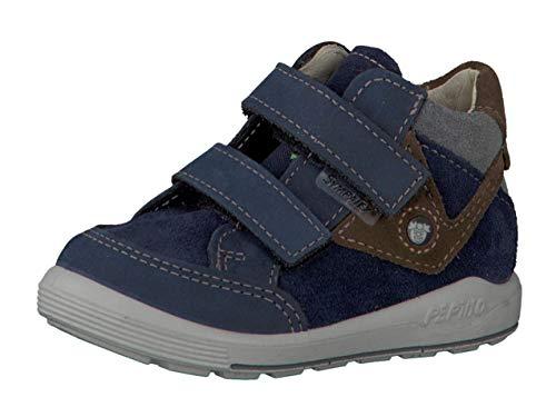 RICOSTA Pepino by garçon Bottes & Boots Kimo, Bottes pour Enfants, Gamin Bottes,Bottes Velcro,imperméables à l'eau,Nautic,20 EU / 4 UK