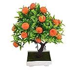 yuese 1 maceta artificial de árbol de naranja bonsái en maceta, para decoración del hogar, jardín