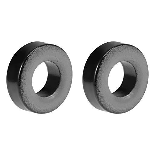 Sourcingmap – 2 unidades de núcleos de toroide de hierro para anillo de ferrita, 9,2 x 18 x 6,5 mm, color negro y gris