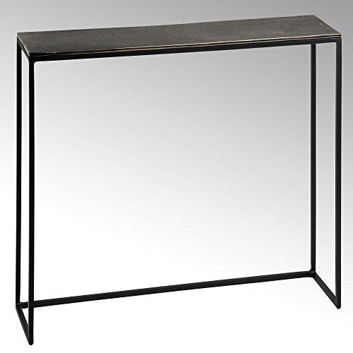 Lambert Maro Beistelltisch Alu Finish H52 60.5 x 15, Metall, Graphit, schwarz, One Size