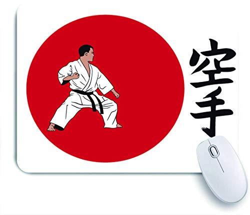 VAMIX Medium Mauspad,ein Mann, der Karate demonstriert,Laptop Tischunterlage wasserdichte Schreibunterlage für Büro Gaming rutschfest Mauspads 240mm x 200mm