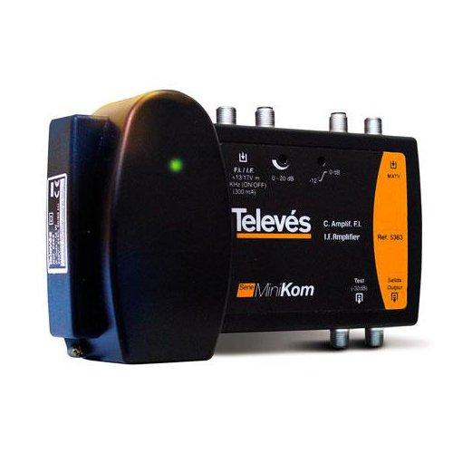 Televes 5363 - Central amplificador serie ca-minikom fi 2150 mhz