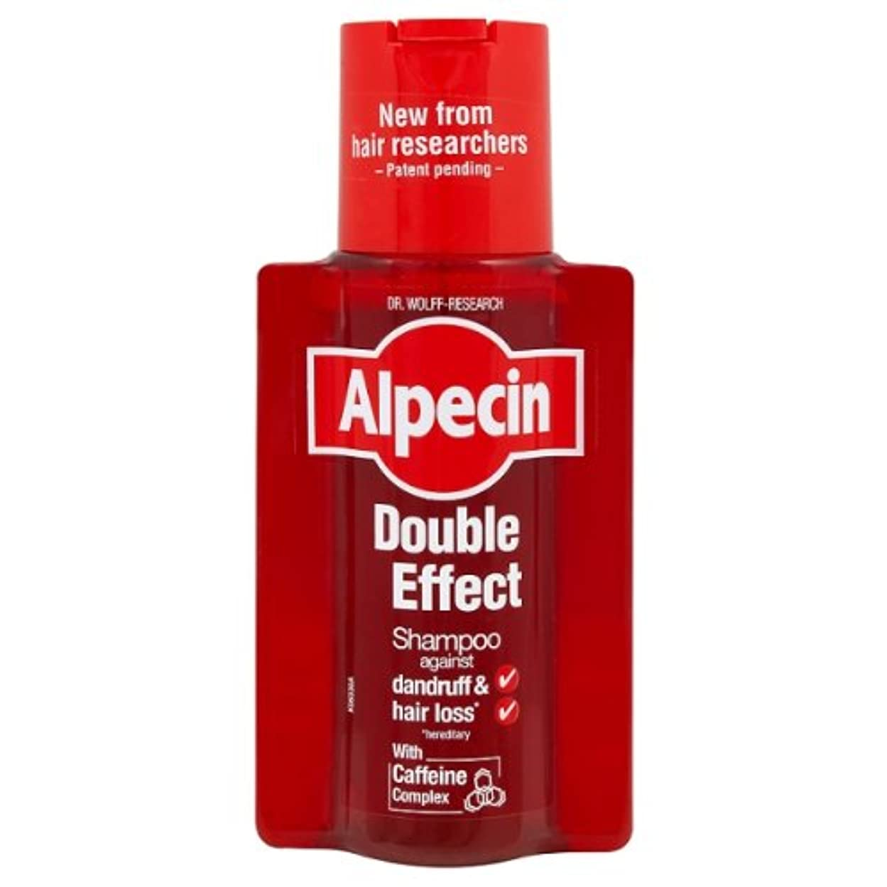 十分などちらも辞書Alpecin Double Effect 200 ml Shampoo - Pack of 2