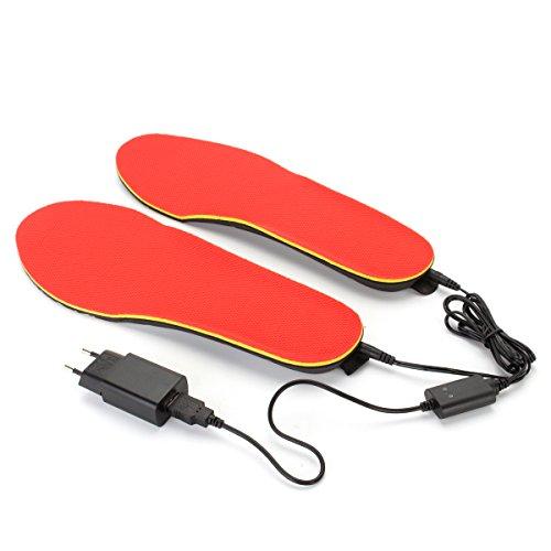 WCHAOEN 3.7V 1200mAh elektrisch beheizte Schuheinlegesohlen Fußwärmer Heizungsfüße Batterie Warme Socken Skischuh Ersatzteile