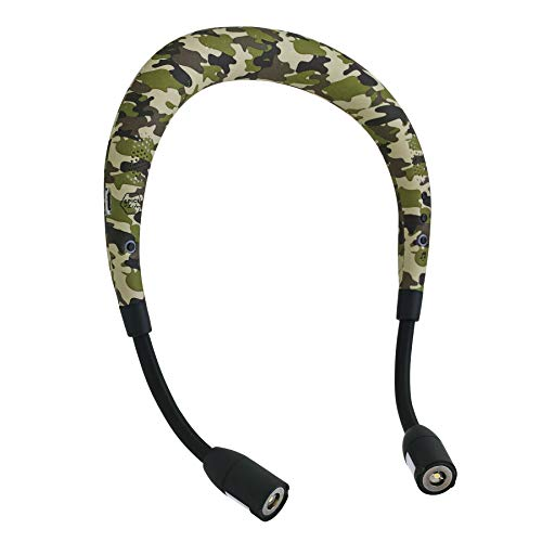 SPICE OF LIFE Buddy Beat Neck Speaker Light with Call Answering - Camo | 6 Brightness Levels, Flashlights, Rechargeable LED Reading Light, Wireless Bluetooth Speaker, Hands Free Call, Built-In Mic