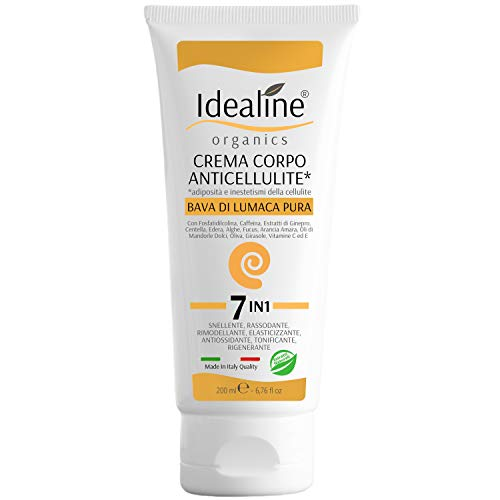 Crema Anticellulite Professionale Bava di Lumaca BIO Effetto Lifting Rassodante Corpo 200ml Idealine