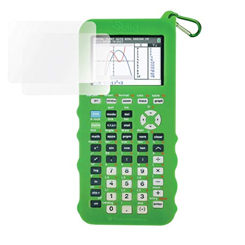 Silicone Case for Ti 84 Plus CE Calculator (Green) - Cover for Texas Instruments Ti-84 Graphing Calculator - Silicon Skin for Ti84 Plus - Protective & Anti-Scretch Cases - Ti 84 Accessories by Sully