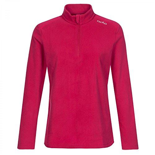 Odlo Midlayer 1/2 Zip Orsino Sweat-Shirt À Capuche Sport, Multicolore (Cerise 30174), Large Femme