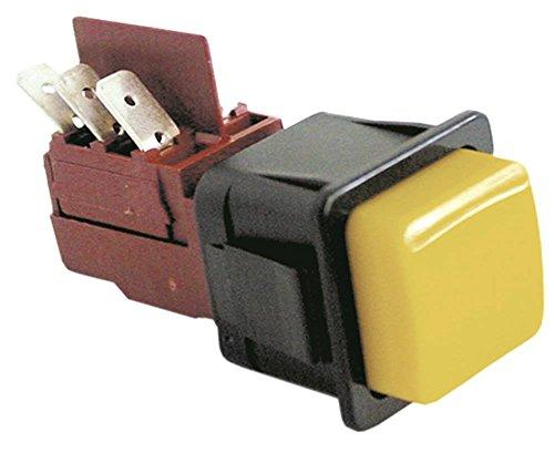 ROLD drukschakelaar voor vaatwasser Silanos 700 250V 2CO geel aansluiting platte stekker 6,3 mm 2-polig inbouwmaat 28,5 x 28,5 mm 16 A