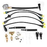Yctze Universal ABS Medidor de presión de combustible Medidor Sistema de suministro de combustible Probador Medidor de herramienta