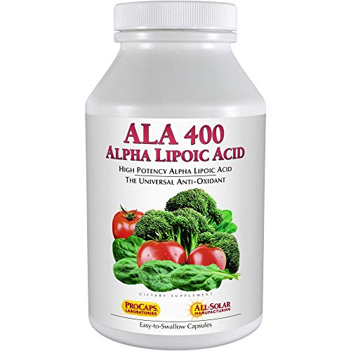 Andrew Lessman Alpha Lipoic Acid ALA 400-240 Capsules – The Universal Anti-Oxidant, Ultra-High Potency Support for Brain, Heart, Liver, Kidneys, Lungs, Energy and Blood Sugar Support, No Additives