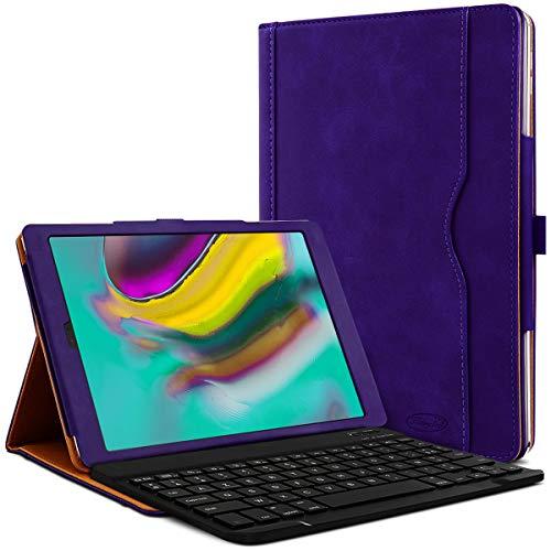 Karylax - Funda de protección y modo soporte horizontal con teclado francés Azerty Connection Bluetooth para tablet Samsung Galaxy Tab A7 10.4