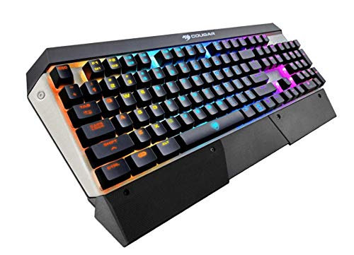 Cougar Attack X3 RGB Mechanische Gaming-Tastatur – Cherry MX Red Switches – RGB-Hintergr&beleuchtung – FPS Handballenauflage (UK-Layout)