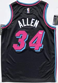 Ray Allen #34 Autographed Signed Nike Miami Heat Vice Basketball Jersey PSA/DNA Celtics Hof