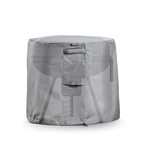 VonHaus Abdeckung Abdeckhaube für runde Grills – Wasserdichte, atmungsaktive Schutzhülle für drinnen & draußen – Schutz vor Wind, Regen, Frost, Hitze, Staub & mehr
