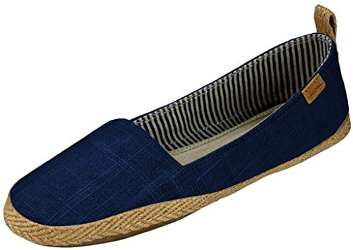 Sanuk Womens Espie Slip On Casual Flats Shoes, Navy, 9